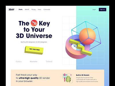 3DAY Website product design service interface web ui ux startup website