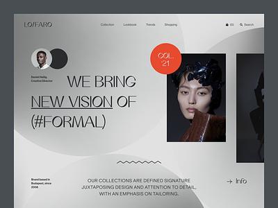 Lofaro Website product design service interface web ux ui startup website