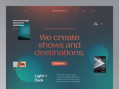 Mediahere Website product design service interface web ux ui startup website