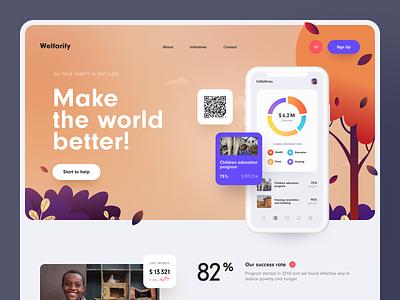 Welfarify Website product design service interface web ux ui startup website