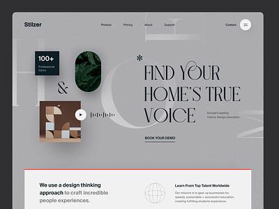 Stilzer Website product design service interface web ux ui startup website