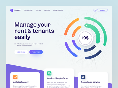 Arealty Website product design service interface web ux ui startup website