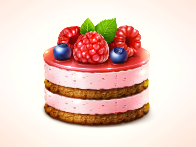 542 calories halo lab icon graphic illustration cake food mint strawberry
