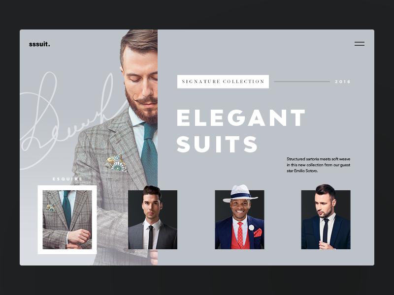 Menswear Website. Sssuit Up! photo ux ui web promo clothes fashion shop e-commerce