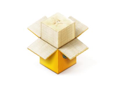 Dropbox. It's bigger than you think icon icons illustration