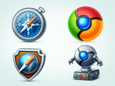 Web Browsers Icon Set icon icons stock download png browser
