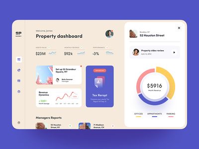 Realty Assets Dashboard halo analytics product management housing estate homestead building profit financial property dashboard property management tech business digital website activity service startup business product