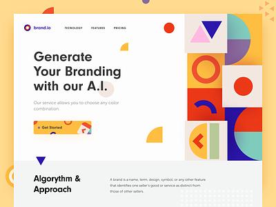 Brand.io Website halo brand identity economical commercial target audience branding service colourful brand website branding marketing e-commerce design website