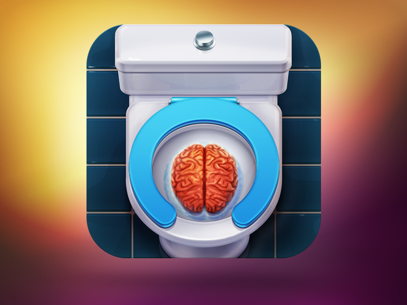 Toilet Teacher App Icon icon icons illustration iphone ios app ipad