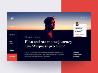 Wequest Travel Animation website trip travelguide travel agency travel tourism sightseeing landing page journey e-commerce destination