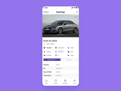 Cambiauto app - Detail Page cars car detailed page details page detail page details detail feed automotive auto ux design uiux product design ios android mobile app design mobile design mobile ui mobile app