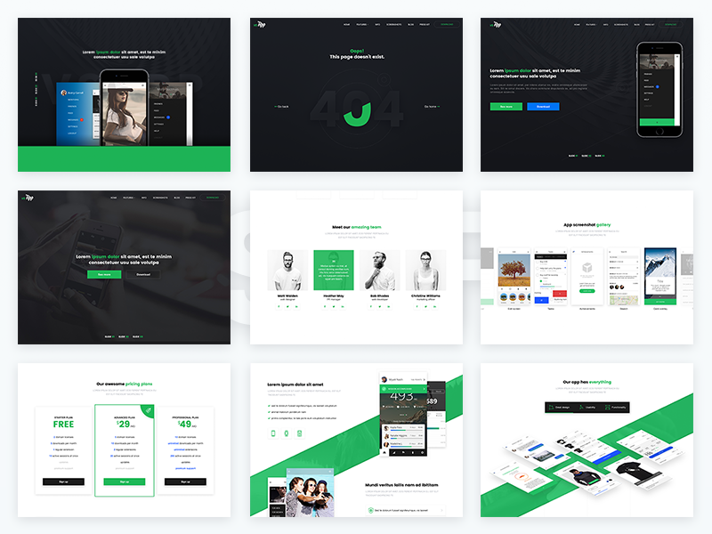 Freebie VSApp PSD Template - Full Version free psd landing page landing minimal clean website freebiepsd template psd freebie
