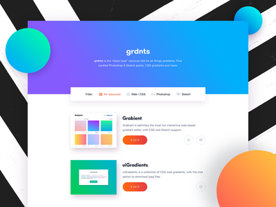 grdnts - Curated Gradient Resources resources curated colors web website gradients