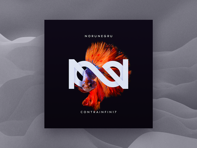 NoruNegru - CONTRAINFIN17 Album Cover red fish infinity dark rock indie album art cover album cd music