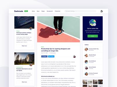 Dashmade Blog Post Page