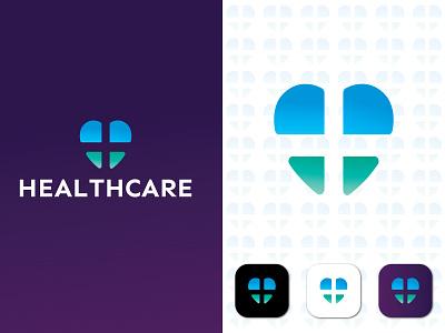Health Care Logo heart health app modern health care logo modern medical logo heart logo icon brand identity logo logo design branding logo abastact clinic logo medical logo modern logo