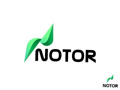 N Modern logo leaf logo green logo notor logo logo inspirtaion brand identy logo design modern logo