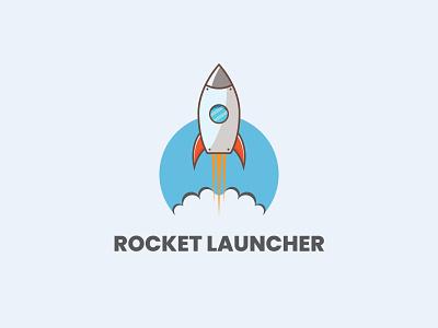 Rocket Launcher Logo logo design branding illustrator vector logoinspirations brandidentity creative graphic logomaker illustration logotype brand logos graphicdesigner logo designer designer logodesigner branding graphicdesign design logo design