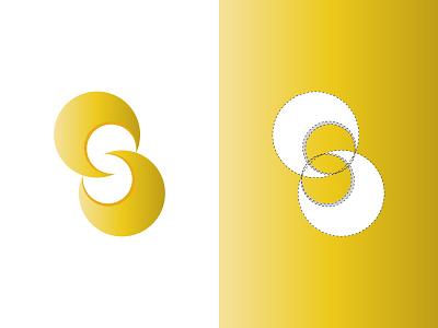 Double Circle Modern Logo nagetive space logo s modern logo s letter logo s loog letter logo ball logo logo maker logo inspirations professional logo circle logo graphicdesign creative logo logodesign brand identity brand design abastact logo branding logo modern logo logo design