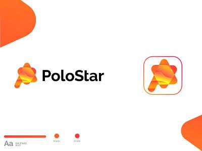 Poly star Modern Logo graphic design brand design brand identity abastact logo branding logo modern logo logo design