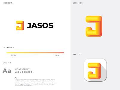 Letter J Modern Logo design brand design brand identity logo abastact branding logo modern logo logo design