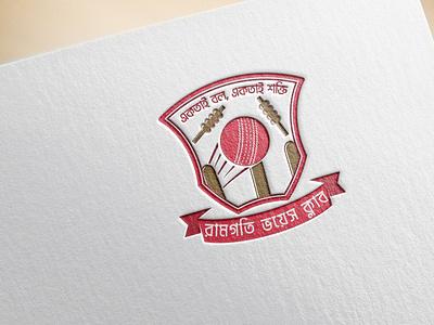 Ramgati Voice Club Logo standard logo creative logo minimal cricket logo cricket club logo cricket cricket club cricket logo design logo design branding minimal logos minimal logo design logo design logo creative logo design minimal branding