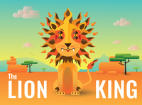 The Lion King artlover dribbble picame thedesigntip curious inprint dailyillustration dailyart design illustration design bardhart vector illustration art illustration illustrator africa sun thelion lion lionking