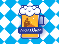 Wiga Wiesn logo design oktoberfest bayern logos logodesign logotype logo design vector