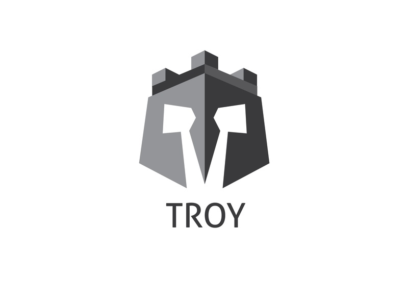 Troy logos logotype logodesign vector icon ux branding design typography logo