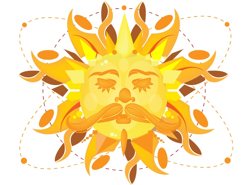 Sun Face summer sun illustration sun rays fathersun planetary sunny the sun sun vector design cartoonart bardhart illustration art illustration abstract art