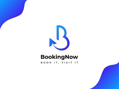 BookingNow - Travel Agency Logo Design logos modern logo design logodesign logo design logo letter logo b letter logo business logo design business logo travel company logo travel logo travel agency logo travel agency logo design