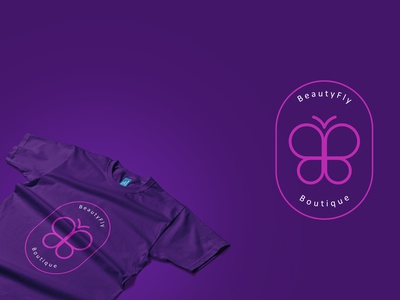 BeautyFly Boutique- Minimal Logo boutique logo boutique logos business logo logo logodesign brand identity logo design icon monogram luxury fashion elegant line minimal branding botique cloting logo minimal logo modern logo
