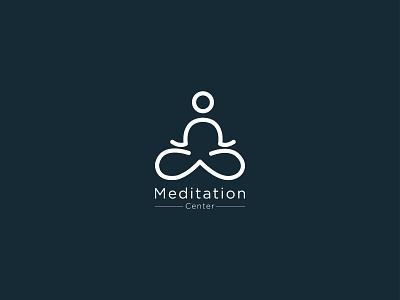 Meditation Logo Design business logo design logo design business logo yoga logo yoga app logo meditation app company logo startup logo medical brand branding minimal colorful simple lotus meditation yoga flower meditation logo