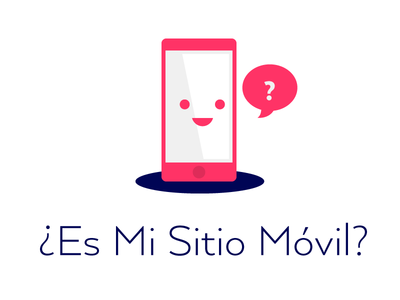 Is my site mobile? pink cute logo
