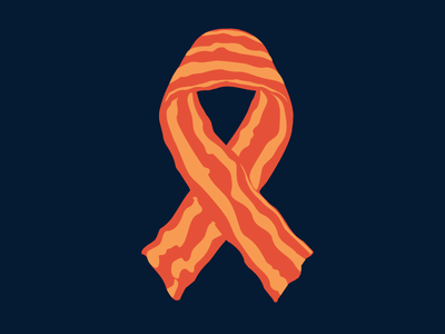 Support Bacon crispy ribbon t-shirt bacon