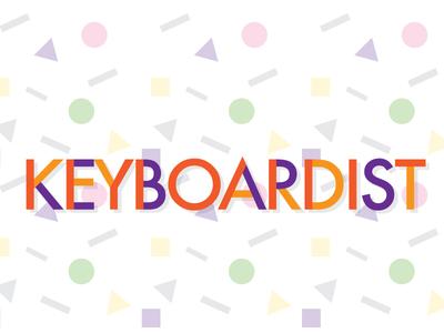 Keyboardist retro logo open source