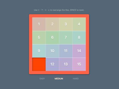Numeric Puzzle game javascript css react puzzle