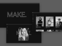 MAKE: a website concept for interviews with artists