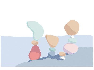 Balance illustration digital illustration minimal design