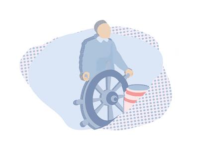 Hey captain! graphicdesign graphic popart pop shadow blue minimal illustration digital illustration design