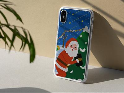 Phone case design phone case christmas illustration
