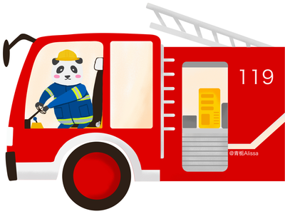 Foretruck design fire truck cartoon illustration
