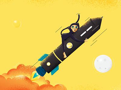 Jamoora. logo design digital illustration concept design concept art space startup rocket monkey design ui illustration concept illustration art adobe illustrator