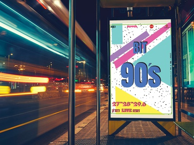 Branding 90's music festival poster design poster logodesign logo branding graphic design graphicdesign photoshop vector typography illustration design