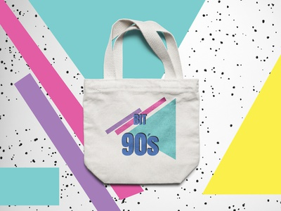 Branding 90's music festival Bag concept branding logo graphic design graphicdesign photoshop vector typography illustration design