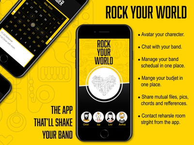 Rock Your World APP UX\UI application app design app icon ux creative branding graphic design graphicdesign photoshop vector typography illustration design