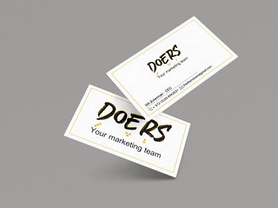 Doers marketing company branding - Buisness card marketing logo design logotype branding design concept logo branding creative photoshop graphic design graphicdesign illustration design
