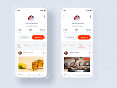 Learn Cooking - Social application for food lovers UI kit branding logo e commerce illustration typography tracking app delivery delivery service dailyui profile page food app madbrains dribbble invitation