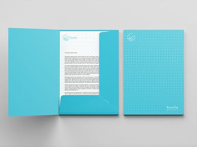 Folder for Karaihe stationery geometric design pattern folder print
