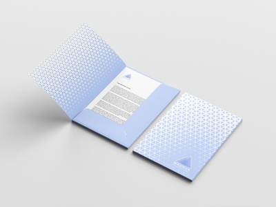 Folder for Maunga stationery pattern geometric design folder print